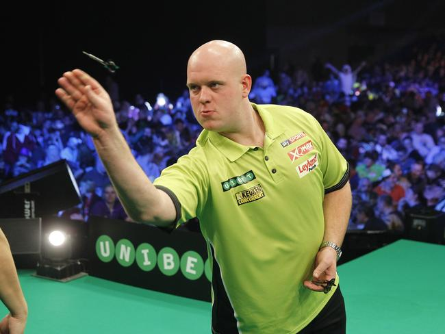 Michael van Gerwen is in the other semi-final.