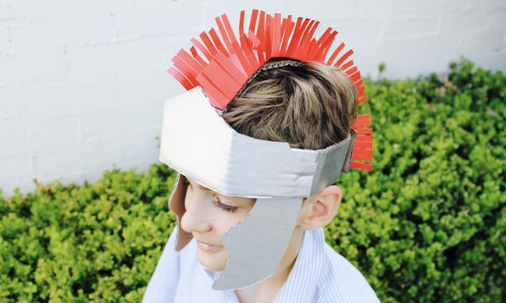 Make your own gladiator helmet