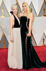Michelle Williams and Busy Philipps attend the 89th Annual Academy Awards on February 26, 2017 in Hollywood, California. Picture: AFP