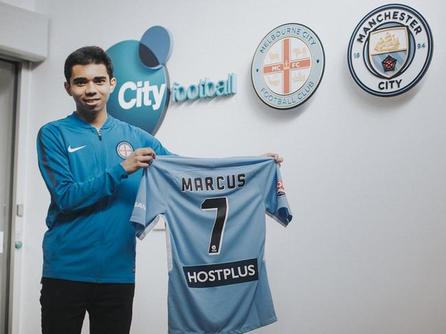 Melbourne City's FIFA esports player Marcus Gomes.