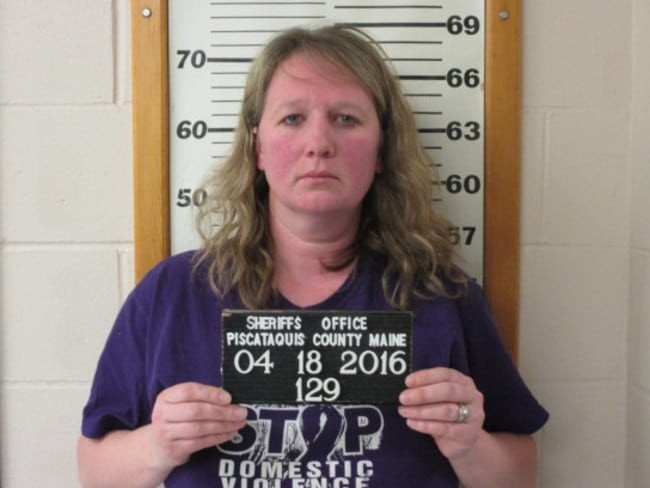 Emily Wilson, 38, has been charged with domestic violence.