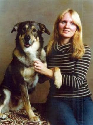 Bobbie Jo Oberholtzer, 29, pictured here with her dog, Hey You.