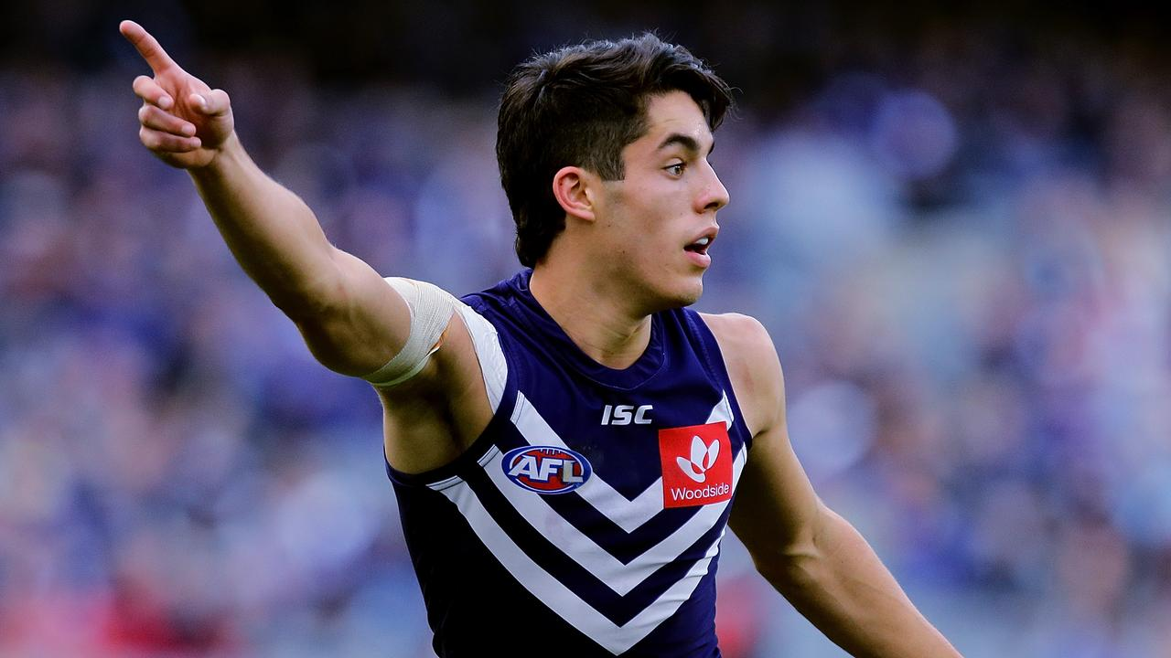 Adam Cerra was a standout for the Dockers.