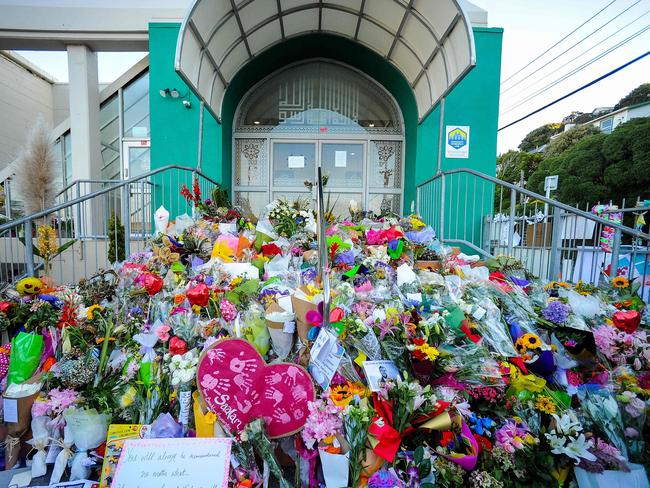 Touching tributes. The first burials for victims of the Christchurch massacre will be held today. Picture: AFP