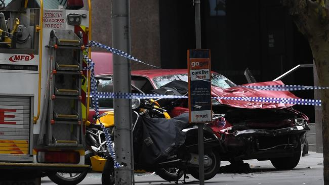 After the incident. Picture: AAP Image/Julian Smith