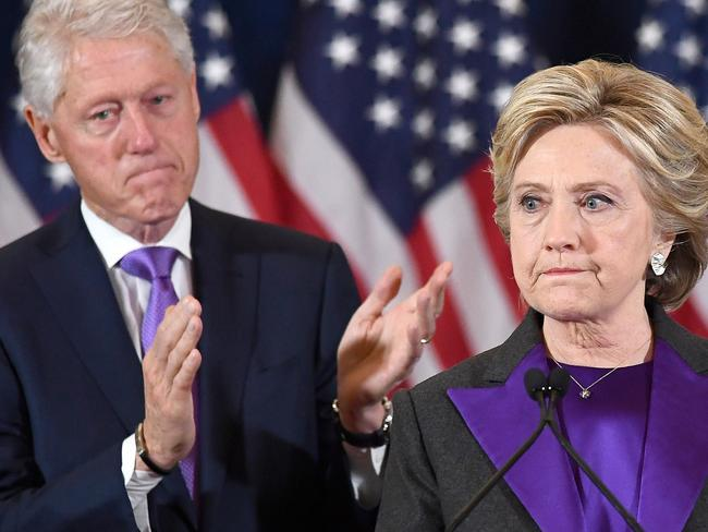 A source claims Bill and Hillary Clinton haven't spoken in months. Picture: AFP/Jewel Samad