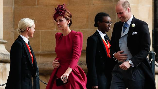 The Duke and Duchess made a hasty entry. Photo: Adrian Dennis/AFP