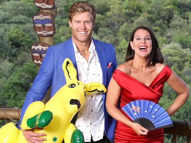 Dr Chris Brown and Julia Morris are once again hosting the jungle show. Picture: Network Ten/ ITV Studios.
