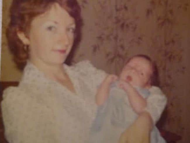 Robyn Hudson and Wade when he was a baby.