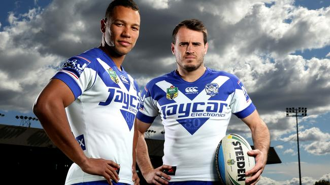 Moses Mbye and Josh Reynolds will be Canterbury's first-choice halves in 2016. Pic: Gregg Porteous