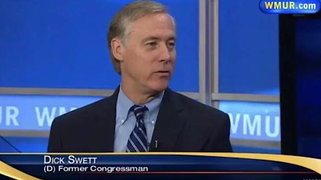 Former congressman Dick Swett endorsed Joe Biden this week but went viral for a very different reason. Picture: WMUR
