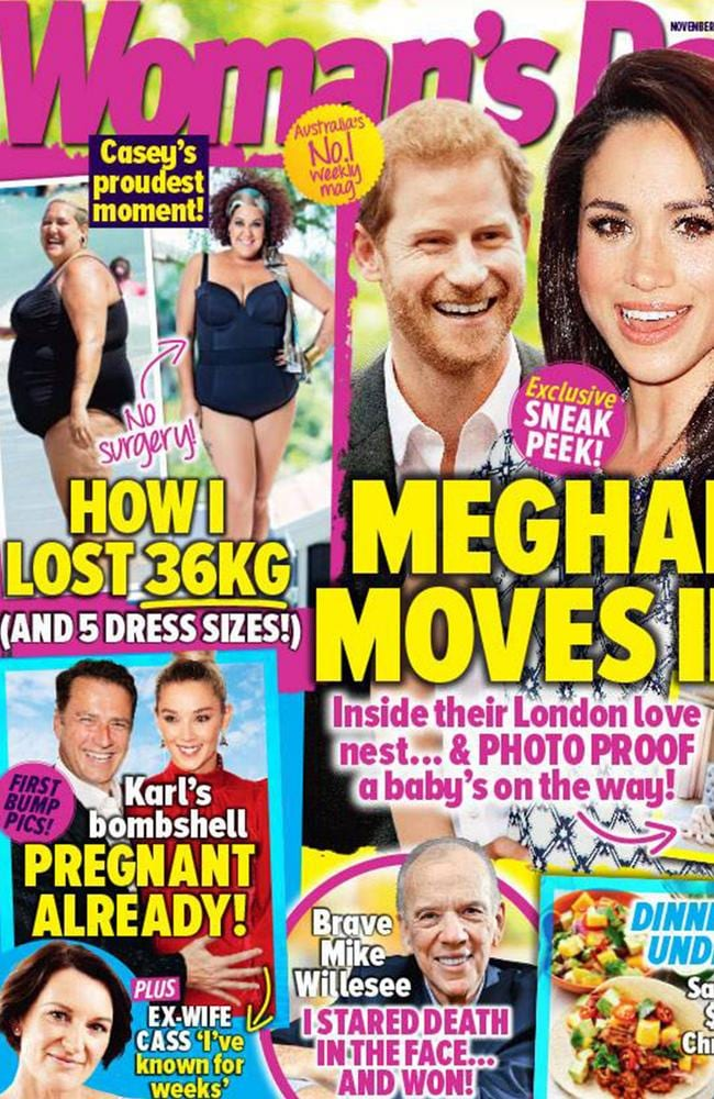 The November 20 2017 issue of Woman's Day features a photo shoot with Donovan, showing off her new figure. Picture: Woman's Day