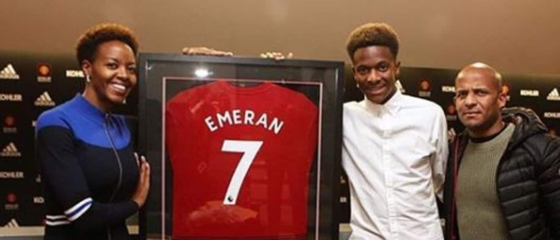 Emeran published pictures of him completing his United move this week