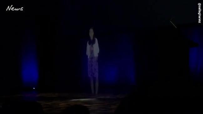 Ardern makes appearance as hologram