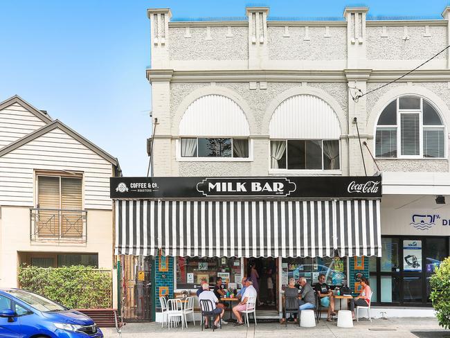 The facade of the Watsons Bay Milk Bar.