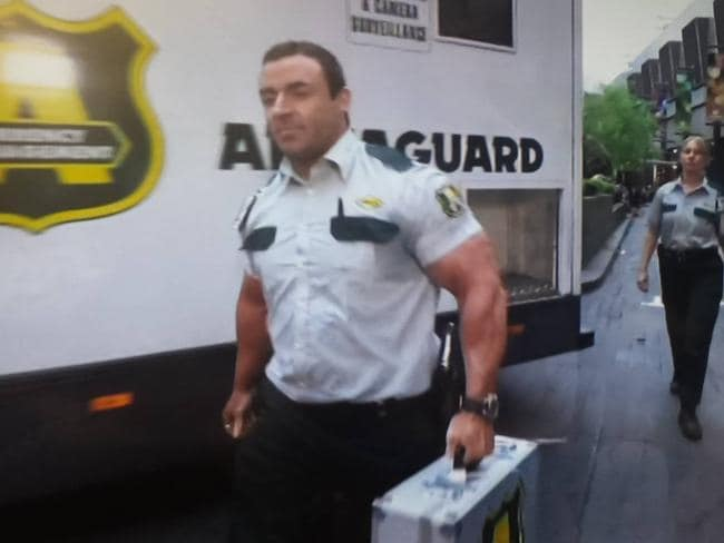 Guns for hire. This Armaguard security member had fans in an uproar.