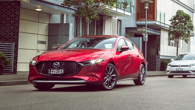 The Mazda3 has gone backwards in fuel efficiency. Photo: Thomas Wielecki.