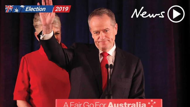 Bill Shorten gives election concession speech