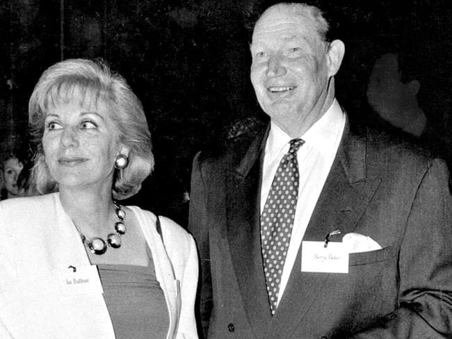 Kerry Packer with Ita Buttrose, at a function celebrating Cleo's 20th birthday in 1992. Picture: Michael Perini