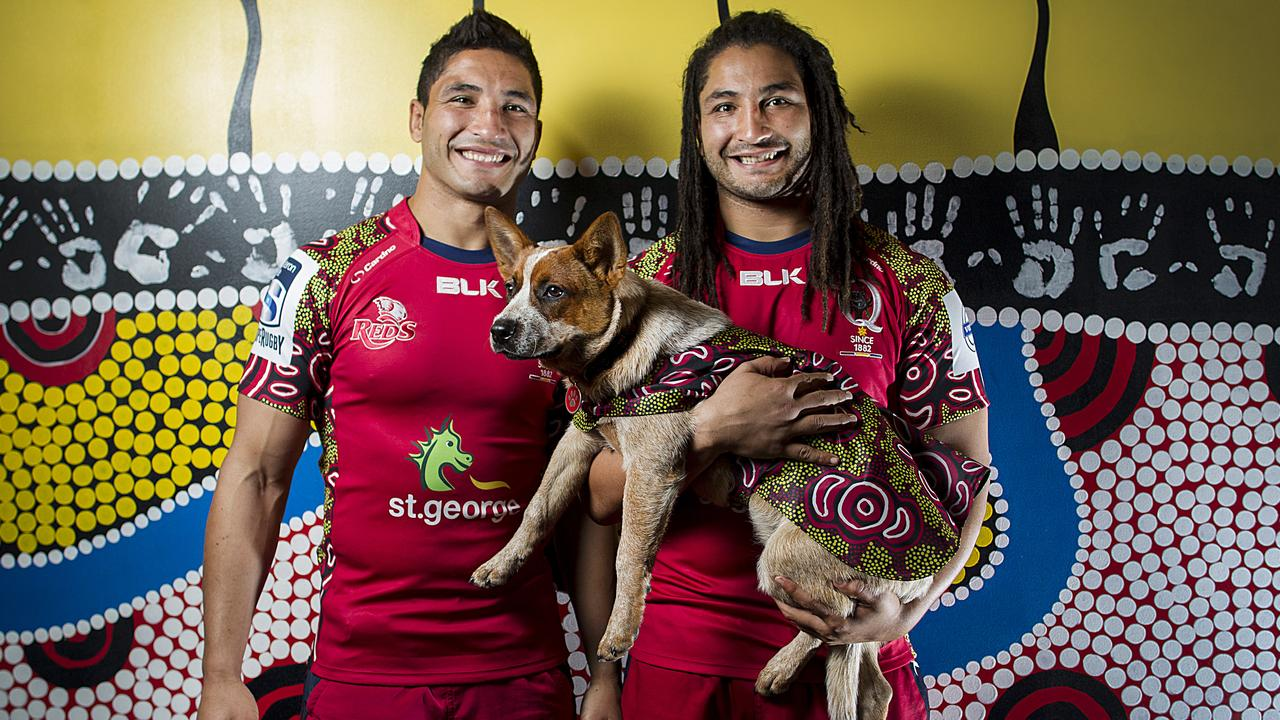 Brothers Anthony and Saia Fainga'a during their days together at the Reds.