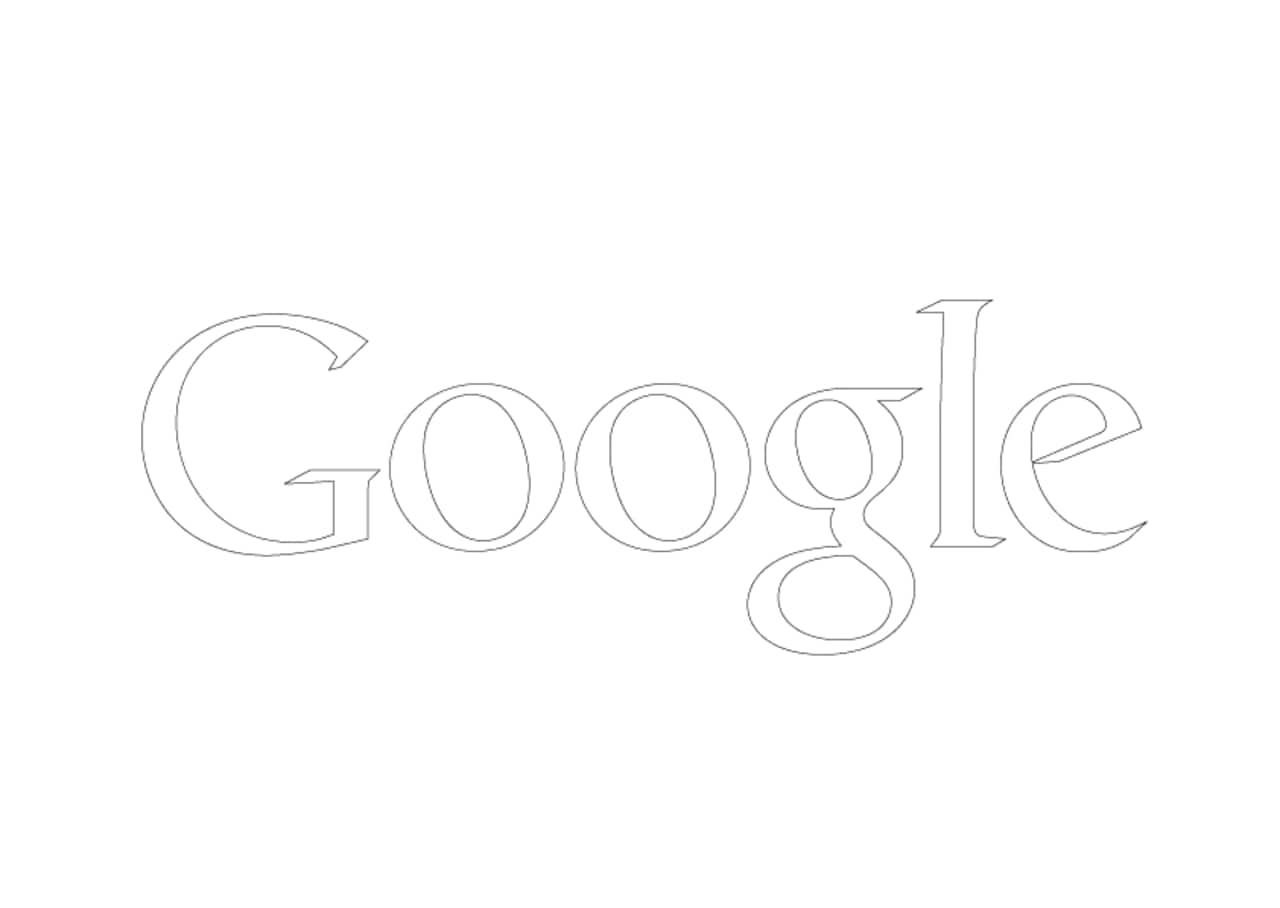 A blank Google logo to help you create your own