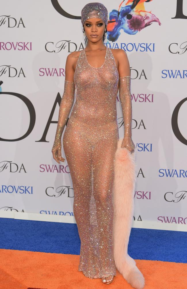 Image result for rihanna almost naked gown in 2017