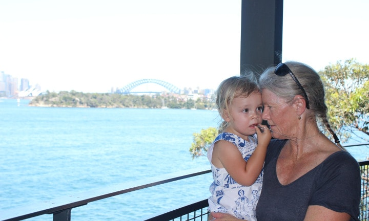 Mel's mum with her granddaughter, Isobel. Image: Supplied