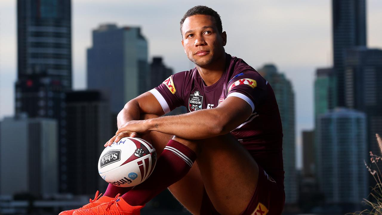 Moses Mbye prepares to make his debut for Queensland. Picture: Adam Head