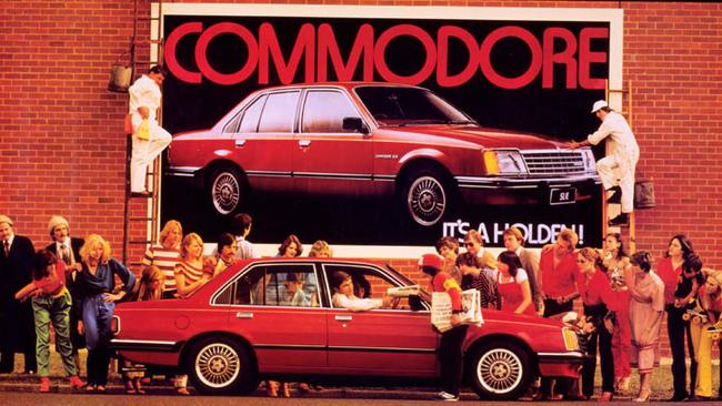 A Holden Commodore advertisement from 1978. Picture: Supplied.