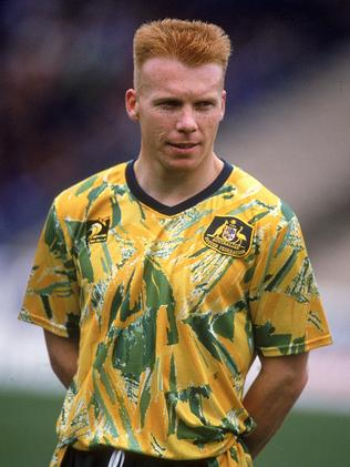 Robbie Slater in the infamous 'spew kit' from the 90s.. (Photo by Getty Images)