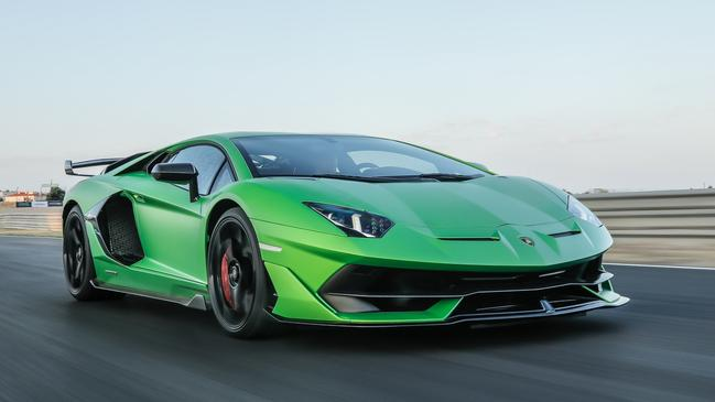 The SVJ is 10 per cent more powerful than the standard Aventador.