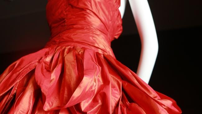 High fashion: awash with delectable red silk