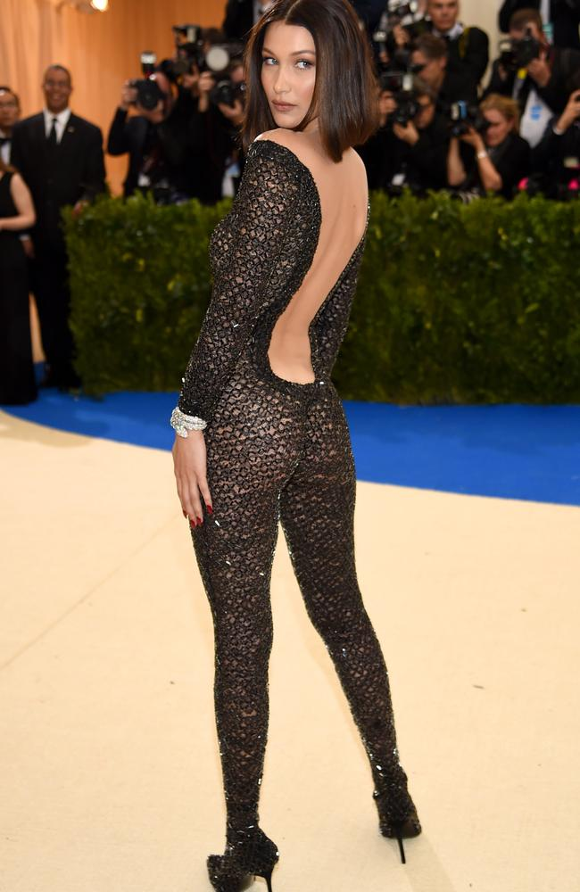 She wore an Alexander Wang catsuit.