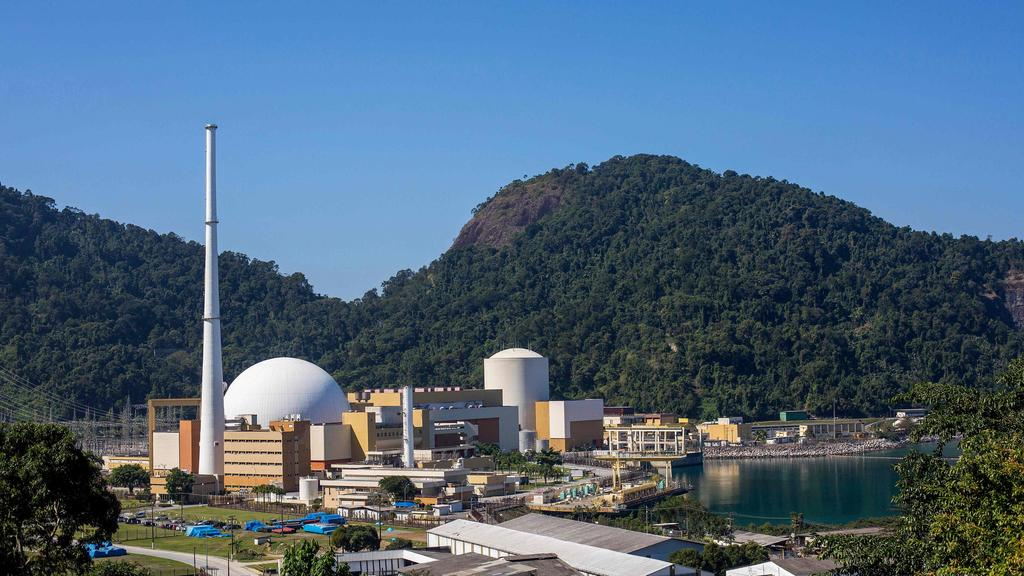 Cr Pat Daley has called for nuclear power to be put on the table. Pictured is the Angra I and II nuclear power complex in Angra dos Reis, Rio de Janeiro. (Photo by Daniel RAMALHO / AFP)