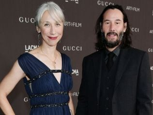 Alexandra Grant and Keanu Reeves. Image: by Neilson Barnard/Getty Images for LACMA.