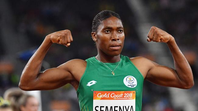 Caster Semenya. (AFP PHOTO/SAEED KHAN)