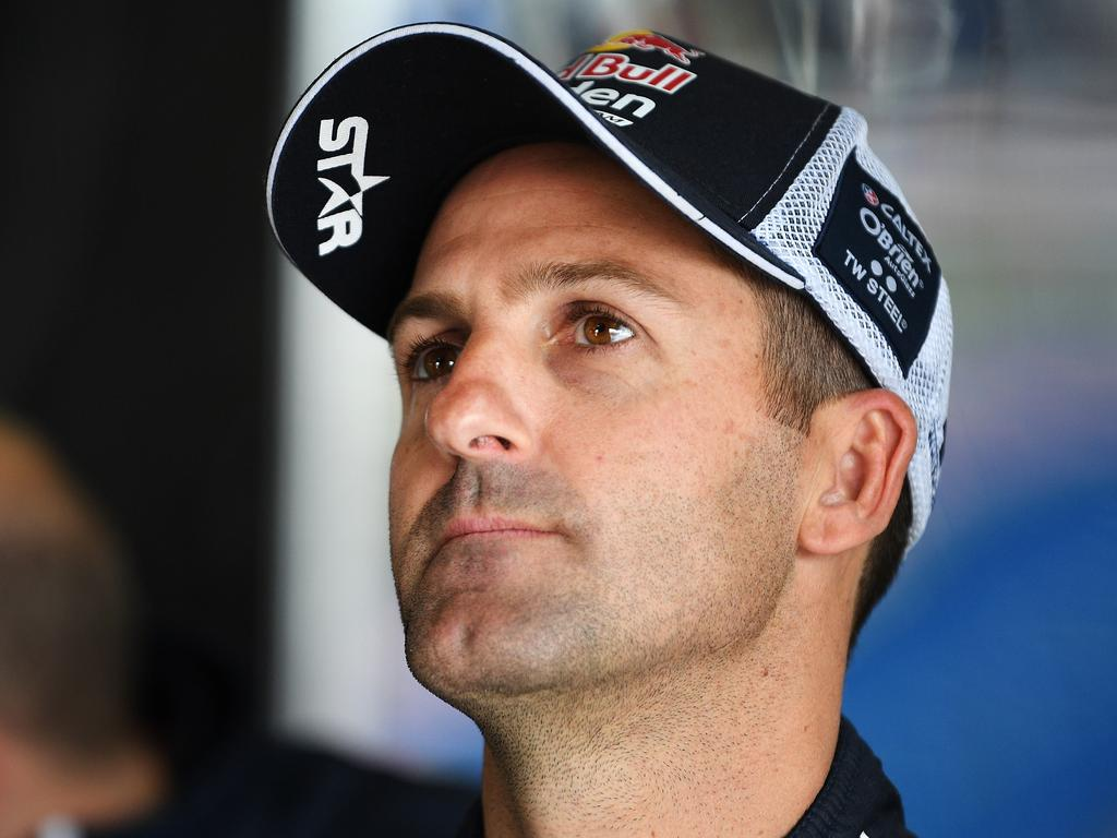 BATHURST, AUSTRALIA - OCTOBER 05: Jamie Whincup driver of the #1 Red Bull Holden Racing Team Holden Commodore ZB looks on during practice for the Bathurst 1000, which is part of the Supercars Championship at Mount Panorama on October 5, 2018 in Bathurst, Australia. (Photo by Daniel Kalisz/Getty Images)