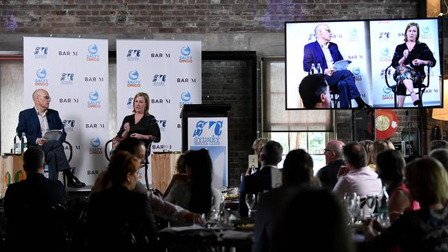 At a Sydney Media Club lunch on Wednesday, the 7.30 host Leigh Sales was asked to talk about her experiences as a woman making a successful career. Picture: NCA NewsWire/Bianca De Marchi