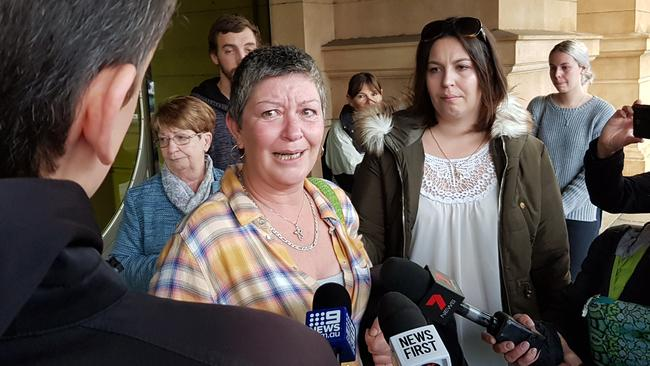 Joanne Wynne, mother of road crash victim Shane Zelenko, outside court after the sentencing of killer driver David Goddard. Picture: Sean Fewster
