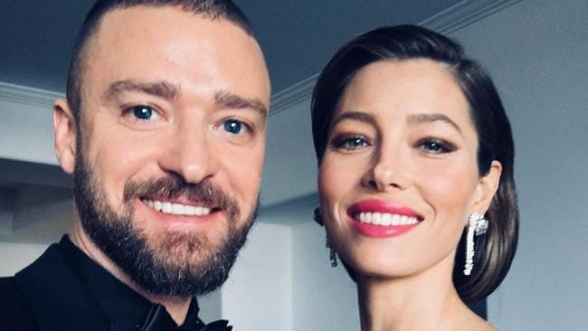 The happy couple: Justin Timberlake and Jessica Biel.