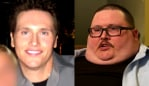 David before and after his weight gain. Image: Screenshot/Dr Phil.
