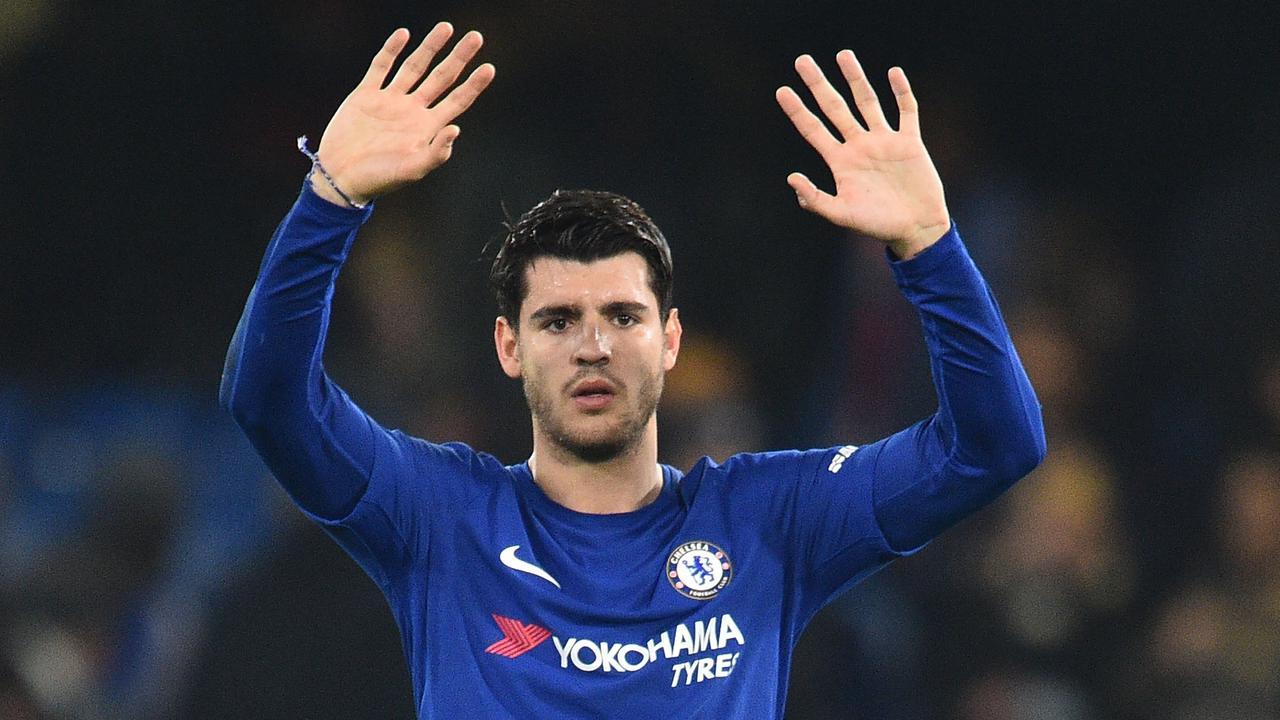Chelsea's Spanish striker Alvaro Morata.