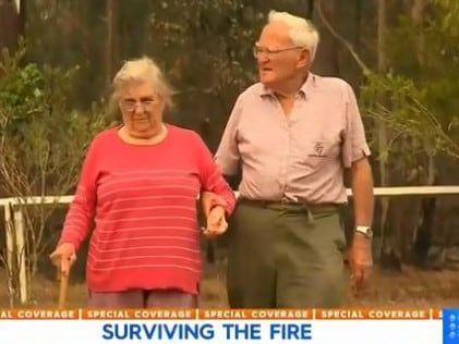Mr Whalan and his wife returned to find their home still in tact. Picture: Today/Channel 9