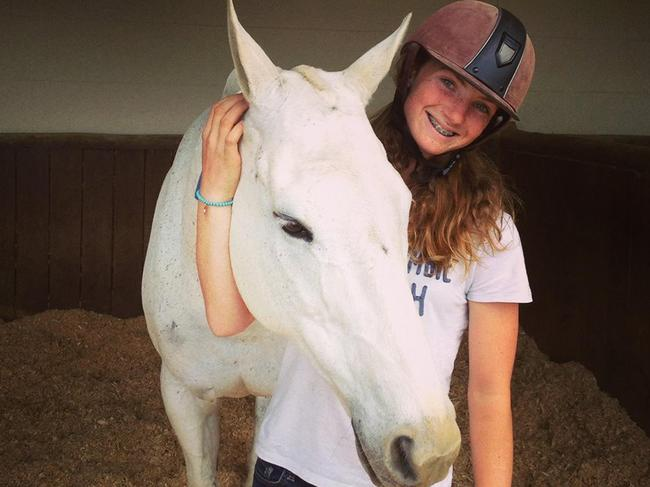 Olivia Inglis, 17, was the daughter of bloodstock auctioneer Arthur Inglis. Picture: Facebook