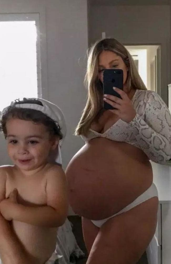The petite woman said she was shocked people assumed she was unhealthy, adding her bump looked big because she's 160cm tall. Picture: MDW Features