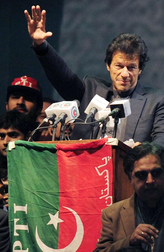 Pakistani cricket hero turned politician Imran Khan. Picture: AFP