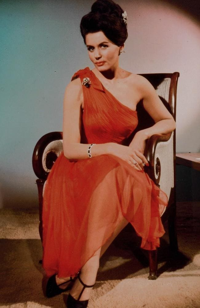 Eunice Gayson played Sylvia Trench's in the James Bond movie Dr. No. Picture: Supplied