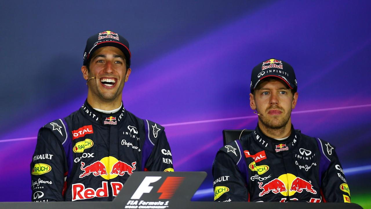 Ricciardo dominated Vettel in their only season together in 2014.