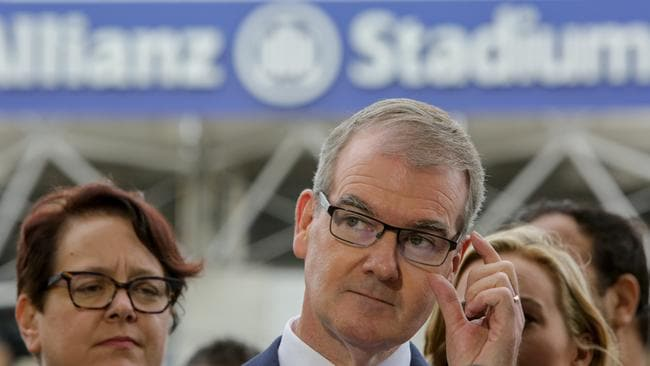 "NSW Labor leader Michael Daley said ""no one is allowe­d in"" the stadium."