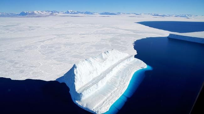 Global warming is melting ice in Antarctica faster than ever before. Picture: Chris Larsen